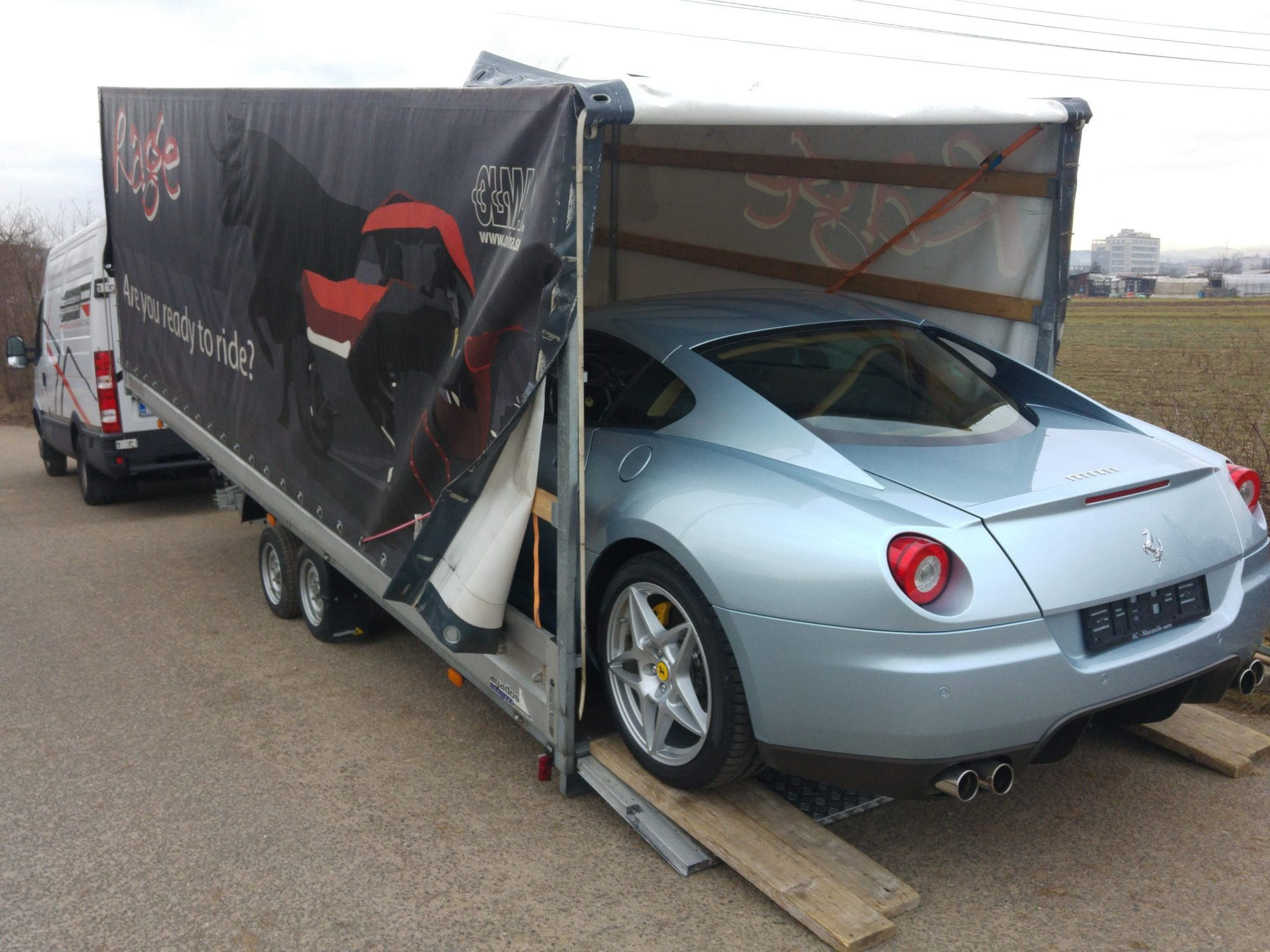 Pirman Racing Ferrari transport 3, 6100mm