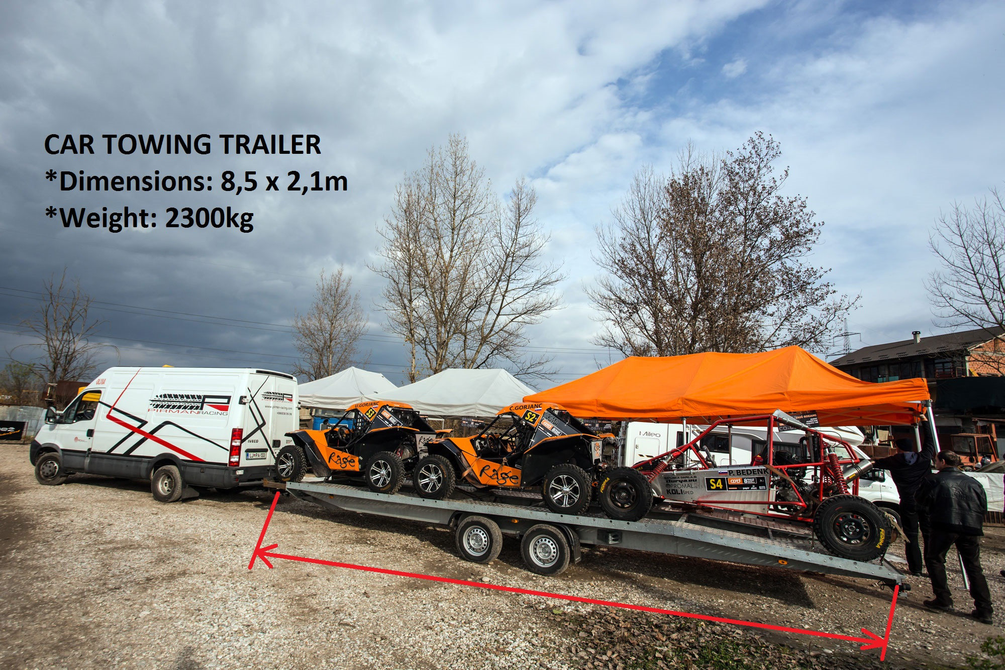 Pirman Racing Transport Car Towing Trailer 2